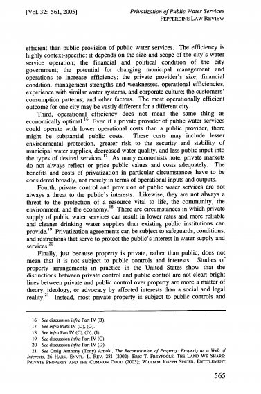 2005 Arnold Privatization of Public Water Services 5