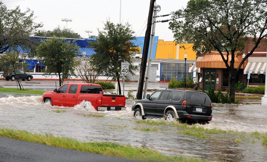 Houston, TX, September 13, 2008--Cars pass through flooded areas following Hurricane Ike.  Jocelyn Augusitno/FEMA