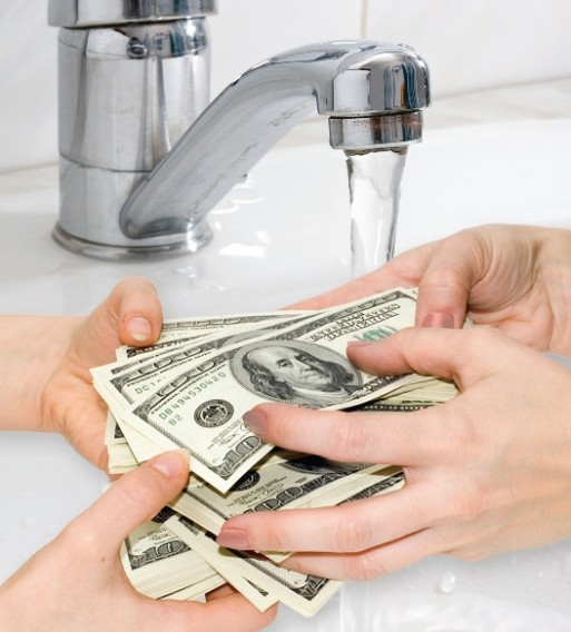 water and cash